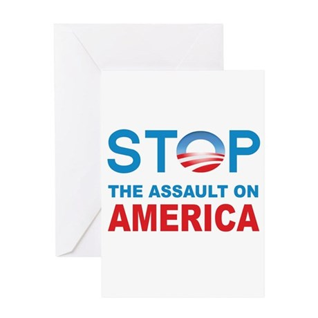 Stop The Assaut On America Greeting Card