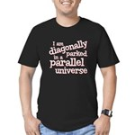 I am diagonally parked Men's Fitted T-Shirt (dark)
