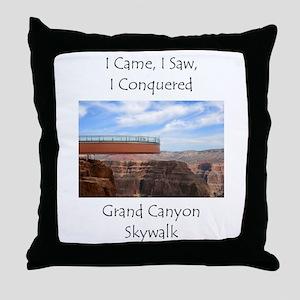 Grand Canyon Skywalk Survivor Throw Pillow