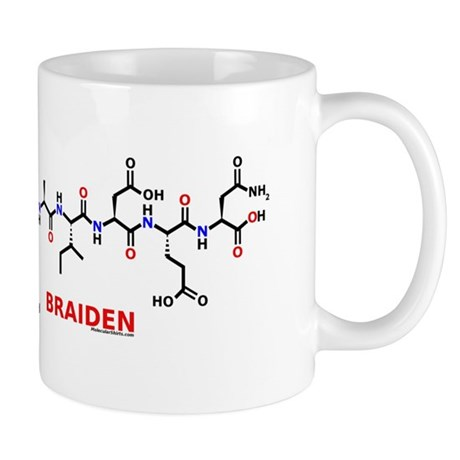 Braiden name molecule Mug