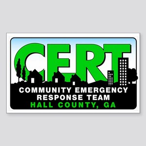 CERT 3x5 Sticker for Hall County, GA