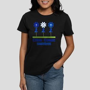 Colon Cancer Survivor (flowered) T-Shirt