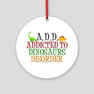 Funny Dinosaur Ornament (Round)