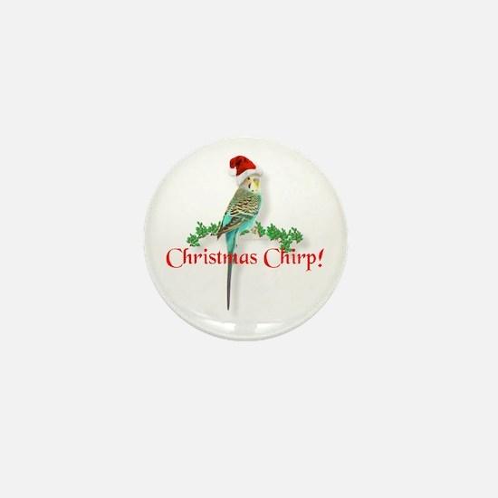 Christmas Budgie Mini Button