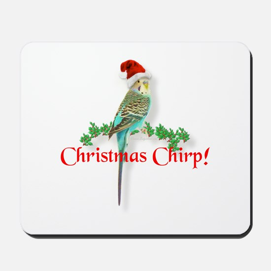 Christmas Budgie Mousepad