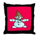 New Orleans Christmas Throw Pillow