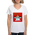 New Orleans Christmas Women's V-Neck T-Shirt