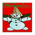 New Orleans Christmas Tile Coaster