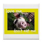 Don't Eat Me Tile Coaster