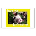 Don't Eat Me Sticker (Rectangle 10 pk)