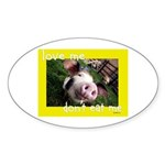 Don't Eat Me Sticker (Oval 10 pk)