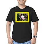 Don't Eat Me Men's Fitted T-Shirt (dark)
