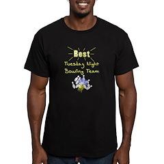 Best Bowling Team Men's Fitted T-Shirt (dark)