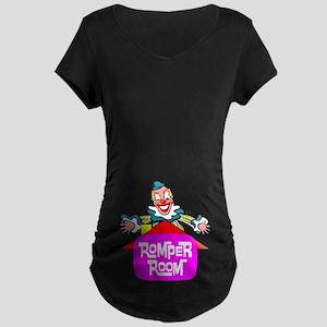 """ROMPER ROOM"" Maternity Dark T-Shirt"
