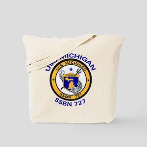 USS MICHIGAN SSBN 727 Tote Bag