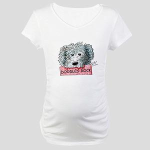 Doodles Rock Sign Maternity T-Shirt
