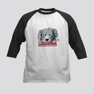 Doodles Rock Sign Kids Baseball Jersey