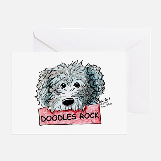 Doodles Rock Sign Greeting Card
