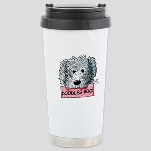 Doodles Rock Sign Stainless Steel Travel Mug