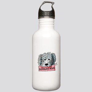 Doodles Rock Sign Stainless Water Bottle 1.0L