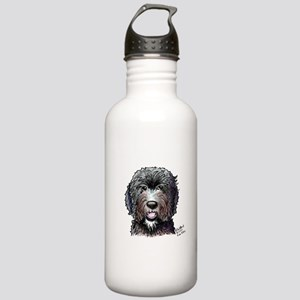 Black Doodle Bee Stainless Water Bottle 1.0L