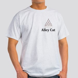 Alley Cat Logo 9 Light T-Shirt Design Front Pocket