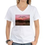 a moment to reflect Women's V-Neck T-Shirt