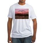 a moment to reflect Fitted T-Shirt