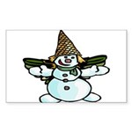 New Orleans Christmas Sticker (Rectangle)