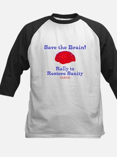 Save the Brain! Kids Baseball Jersey