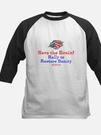 Save the Brain! Torn Flag Kids Baseball Jersey