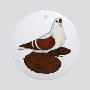 Silesian Swallow Pigeon Ornament (Round)