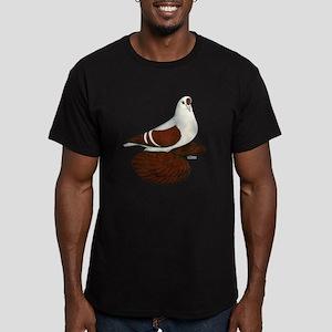 Silesian Swallow Pigeon Men's Fitted T-Shirt (dark