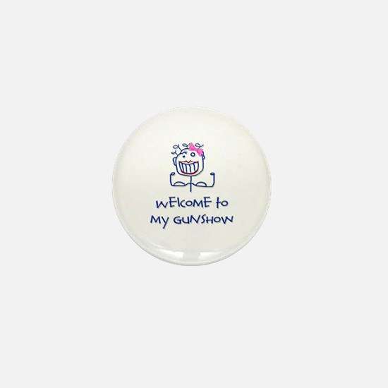 Welcome girl Mini Button