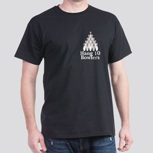 Hang 10 Bowlers Logo 9 Dark T-Shirt Design Front P