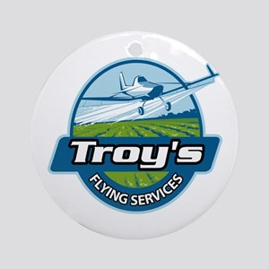 Troy's Flying Services Ornament (Round)