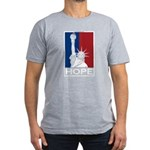 Liberty is Hope Men's Fitted T-Shirt (dark)