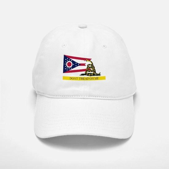 Dont Tread on Me Ohio Flag Baseball Baseball Cap