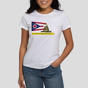 Dont Tread on Me Ohio Flag Women's T-Shirt