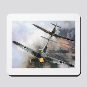 Spitfire Chasing ME-109 Mousepad