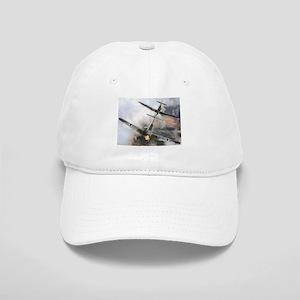 Spitfire Chasing ME-109 Cap