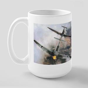 Spitfire Chasing ME-109 Large Mug