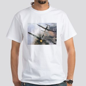 Spitfire Chasing ME-109 White T-Shirt