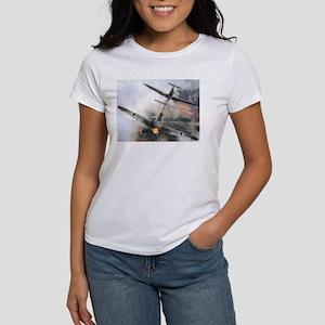 Spitfire Chasing ME-109 Women's T-Shirt