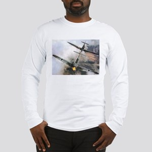 Spitfire Chasing ME-109 Long Sleeve T-Shirt