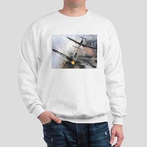 Spitfire Chasing ME-109 Sweatshirt
