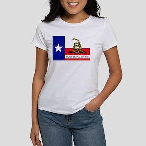 Dont Tread on Me Texas Flag Women's T-Shirt