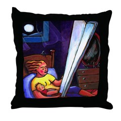 Telling Tall Tales Throw Pillow