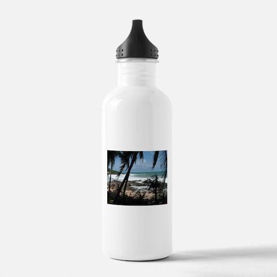 Hidden Beach in Sri Lanka Water Bottle