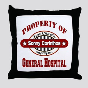 Property of Sonny Corinthos Throw Pillow